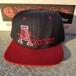 1990s Arkansas Razorbacks Snapback Hat